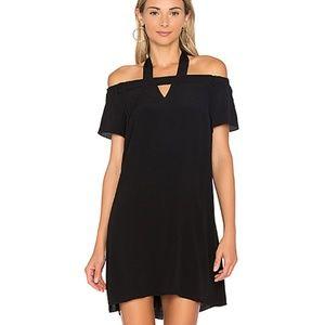 NWT 1. State Size Large Cold Shoulder Black Dress
